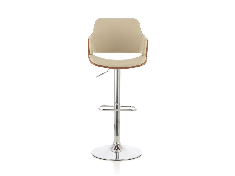Serene Furnishings Gardenia Cream - Walnut Bar Stool Image0 Image