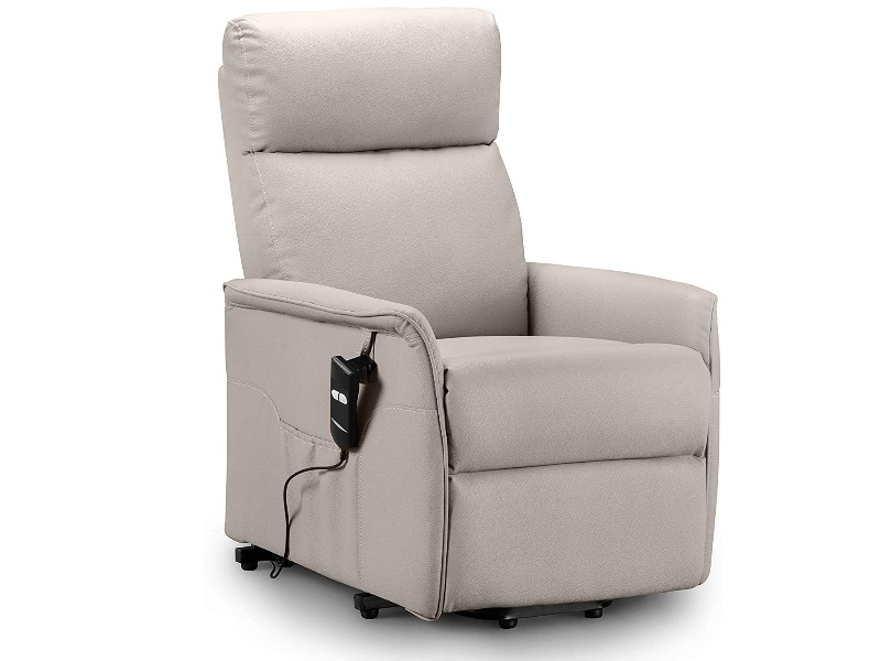 Julian Bowen Helena Rise & Recline Chair  2\' 6 Small Single Pebble Faux Leather Recliner Image0 Image