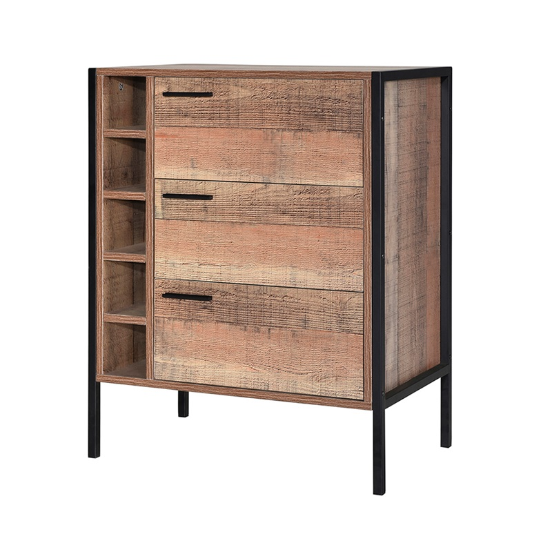 LPD Furniture Hoxton Wine Cabinet 2\' 6 Small Single Wine Cabinet Image0 Image