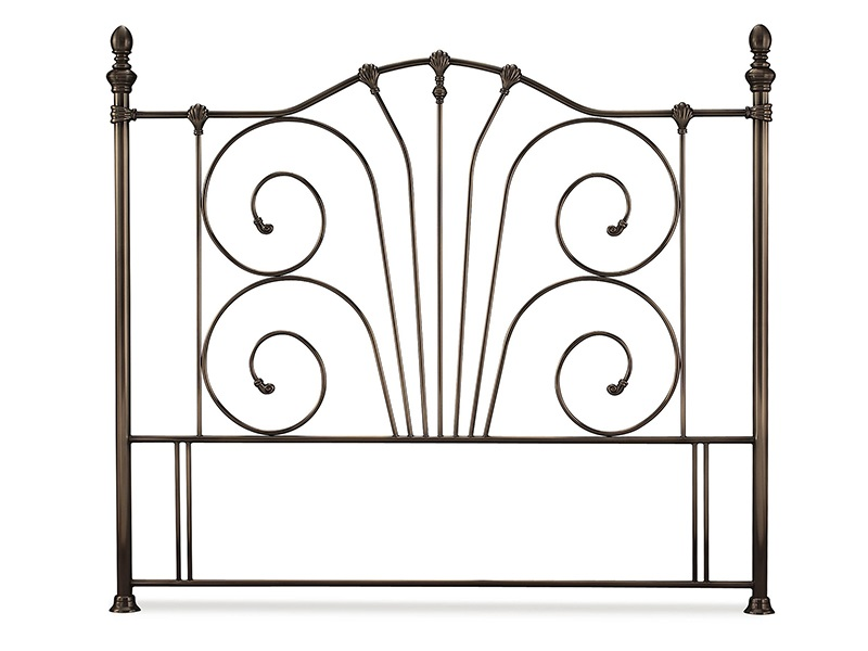 Serene Furnishings Jessica Antique Nickel 4\' 6 Double Metal Headboard Image0 Image