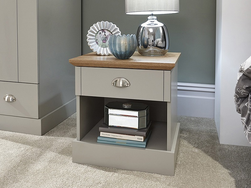 GFW Kendal 1 Drawer Bedside Table Paint Grey Bedside Chest Image0 Image