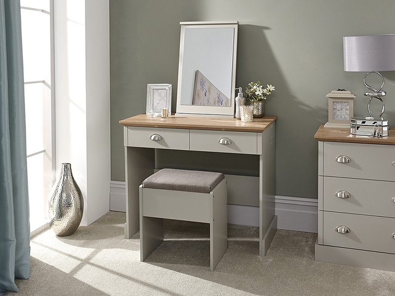 GFW Kendal Dressing Table with Stool Paint Grey Dressing Table Image0 Image