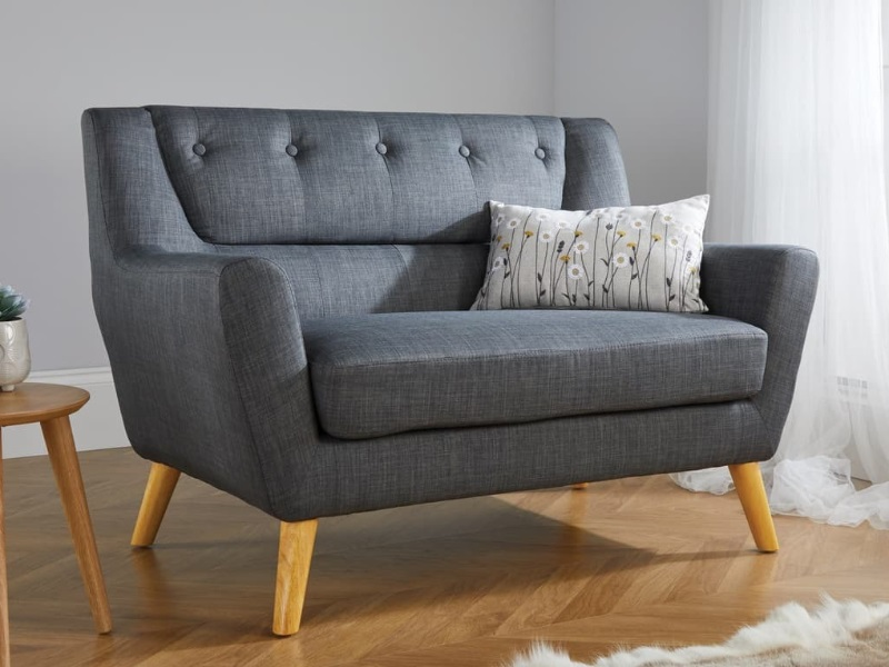 Birlea Lambeth Medium Sofa 2\' 6 Small Single Grey Sofa Image0 Image