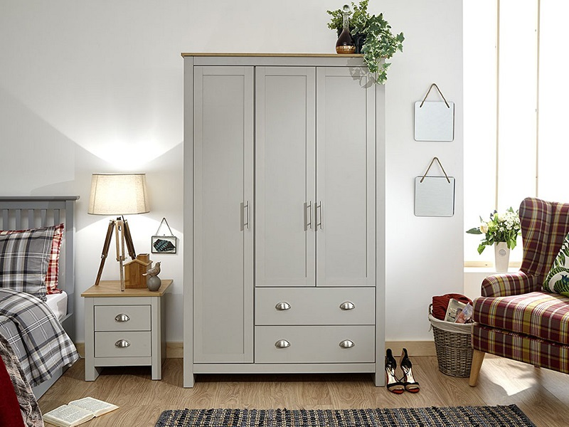 GFW Lancaster 3 Door 2 Drawer Wardrobe Paint Cream Wardrobe Image0 Image