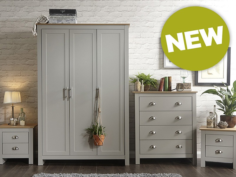 GFW Lancaster 4 Piece Set Paint Grey Bedroom Set Image0 Image