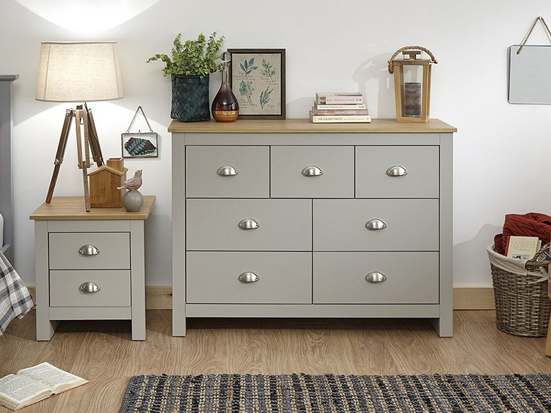GFW Lancaster 3 + 4 Drawer Merchants Chest Paint Cream Drawer Chest Image0 Image