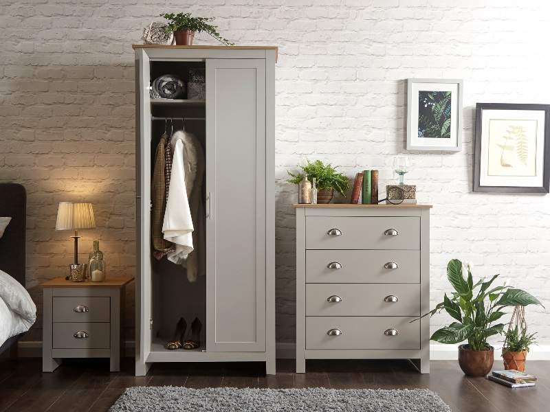 GFW Lancaster 3 Piece Set Paint Grey Bedroom Set Image0 Image