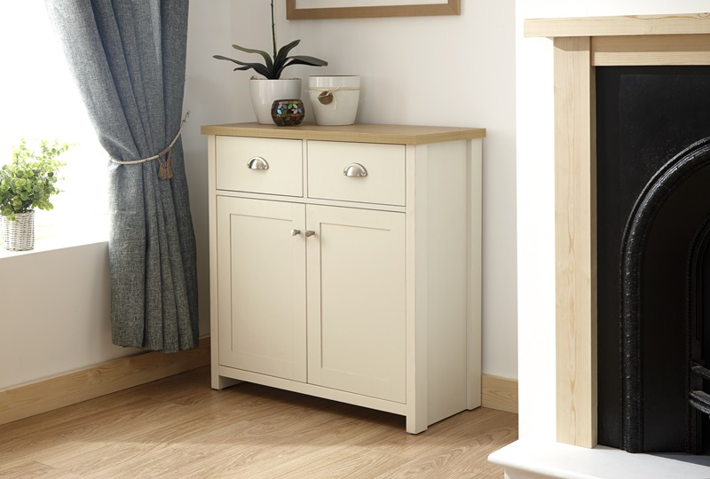 GFW Lancaster Compact Sideboard Paint Cream Sideboard Image0 Image