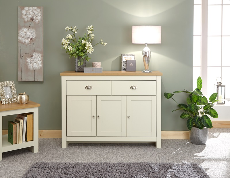 GFW Lancaster Large Sideboard Paint Cream Sideboard Image0 Image