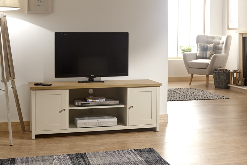 GFW Lancaster Large TV Cabinet Paint Cream TV Unit Image0 Image