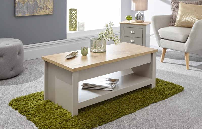 GFW Lancaster Lift Up Coffee Table Paint Grey Coffee Table Image0 Image