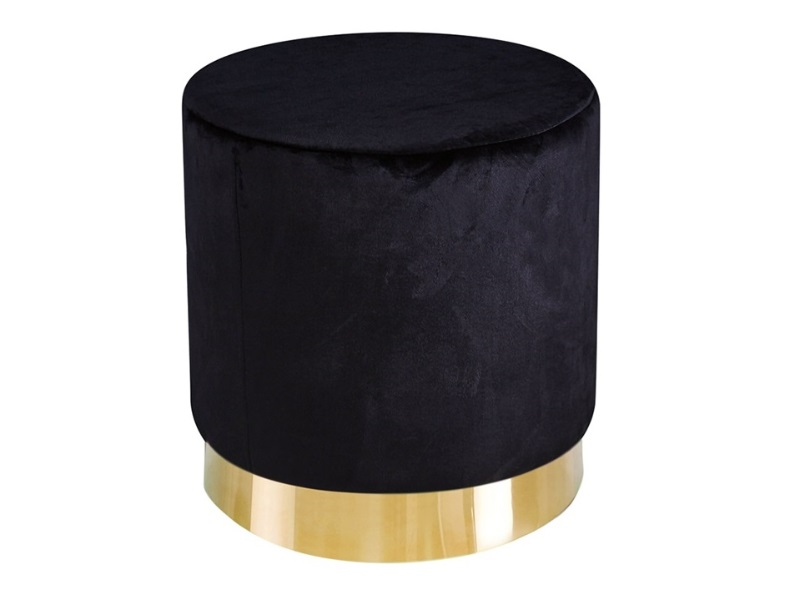 LPD Furniture Lara Pouffe  2\' 6 Small Single Black Pouffe Image0 Image