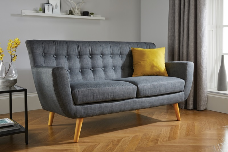 Birlea Loft 3 Seater Sofa Grey 2\' 6 Small Single Grey Sofa Image0 Image
