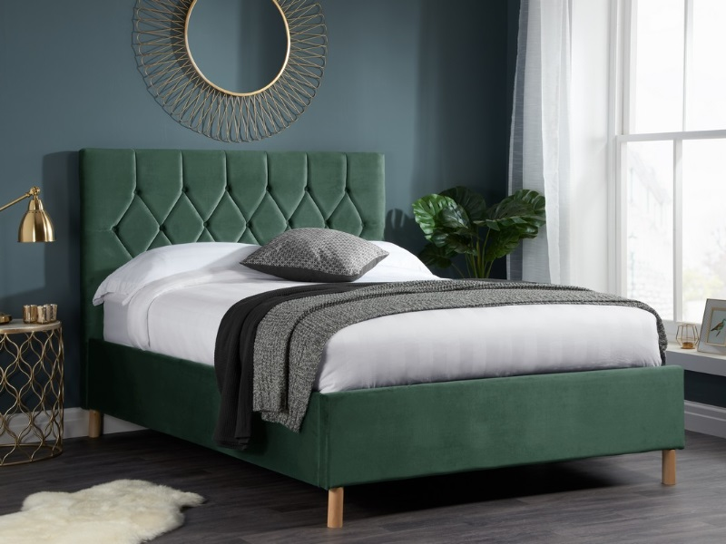 Birlea Loxley Ottoman 4\' 6 Double Green Ottoman Bed Image0 Image
