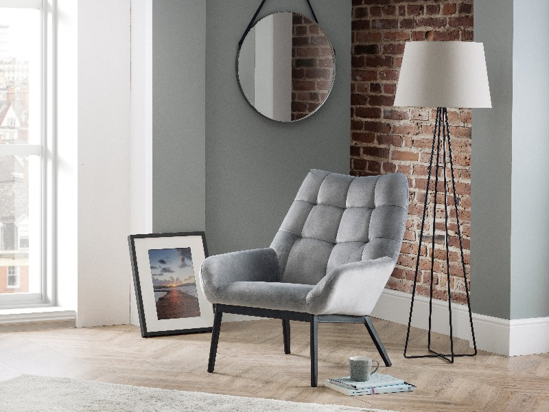 Lucerne Velvet Chair - Grey Image0 Image