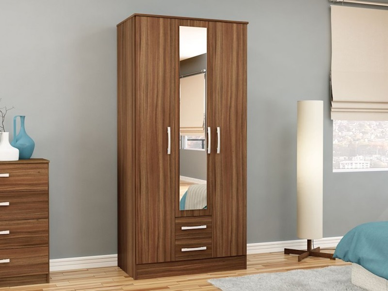 Lynx 3 Door 2 Drawer Robe (Assorted Colours) Main Image