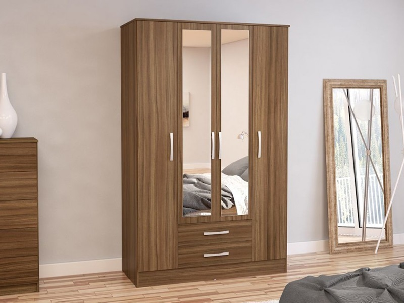 Birlea Lynx 4 Door 2 Drawer Robe Assorted Colours White Wardrobe Image0 Image