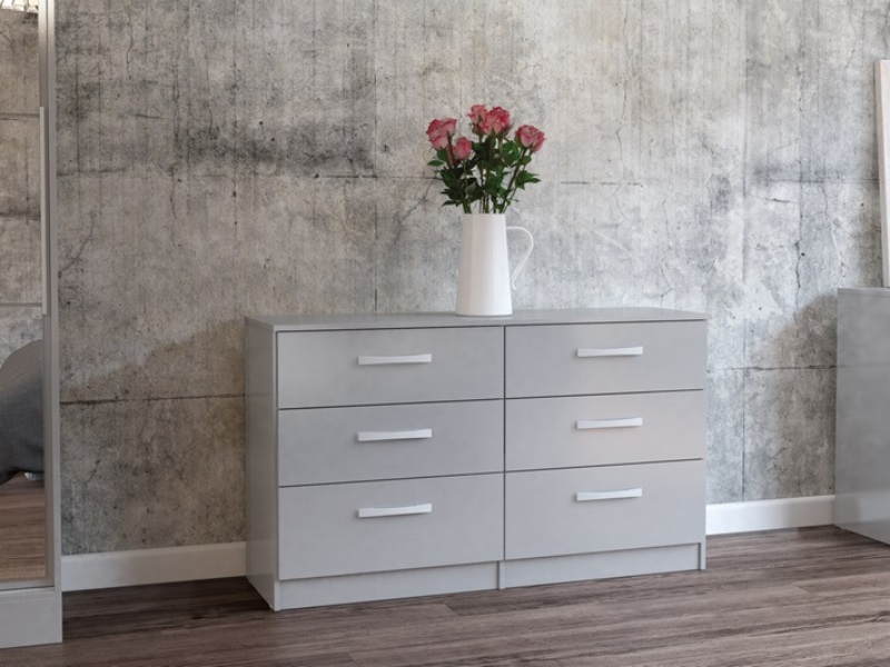 Birlea Lynx 6 Drawer Chest Grey Drawer Chest Image0 Image
