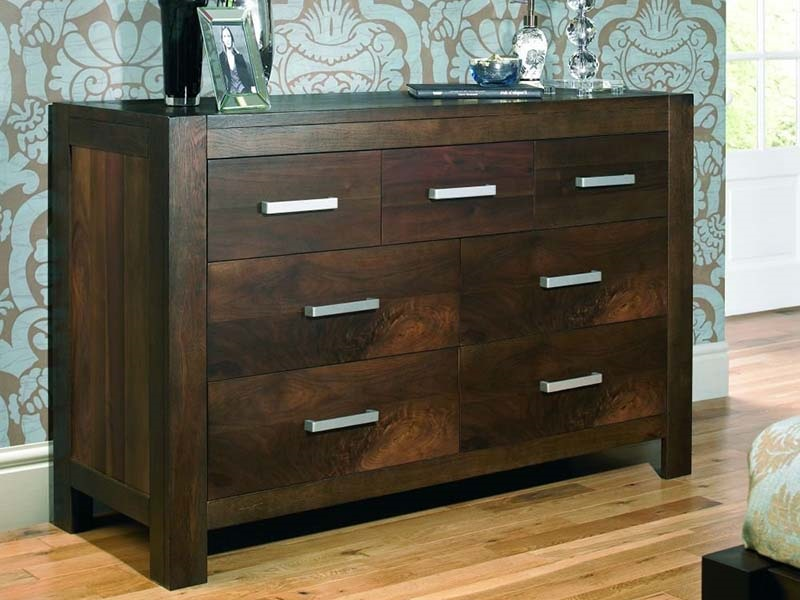 Lyon Walnut 4+3 Drawer Wide Chest Main Image