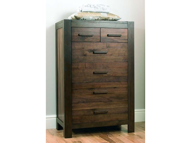 Lyon Walnut 4+2 Drawer Tall Chest Main Image