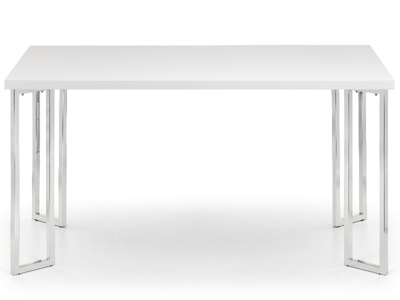 Manhattan Hi Gloss & Chrome Dining Table Image0 Image
