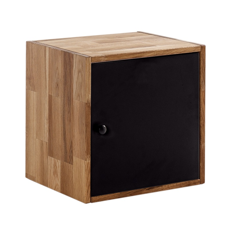 LPD Furniture Maximo Cube With Door Oak Oak Shelving Unit Image0 Image