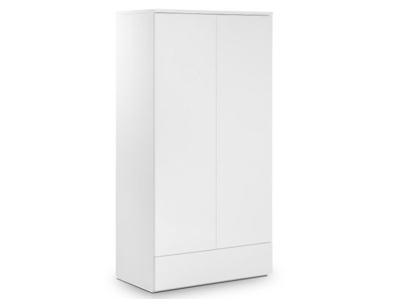 Julian Bowen Monaco 2 Door Combination Wardrobe  White Wardrobe Image0 Image