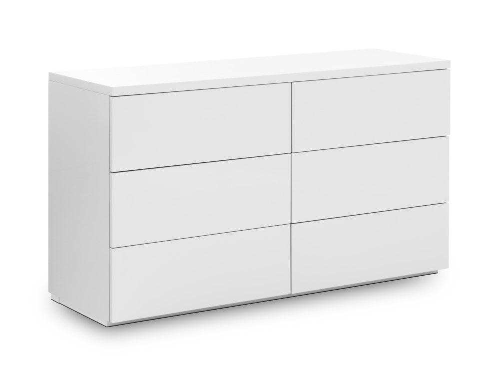 Julian Bowen Monaco 6 Drawer Wide Chest  White Drawer Chest Image0 Image