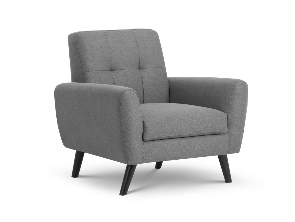 Julian Bowen Monza Compact Retro Chair Grey Accent Chair Image0 Image