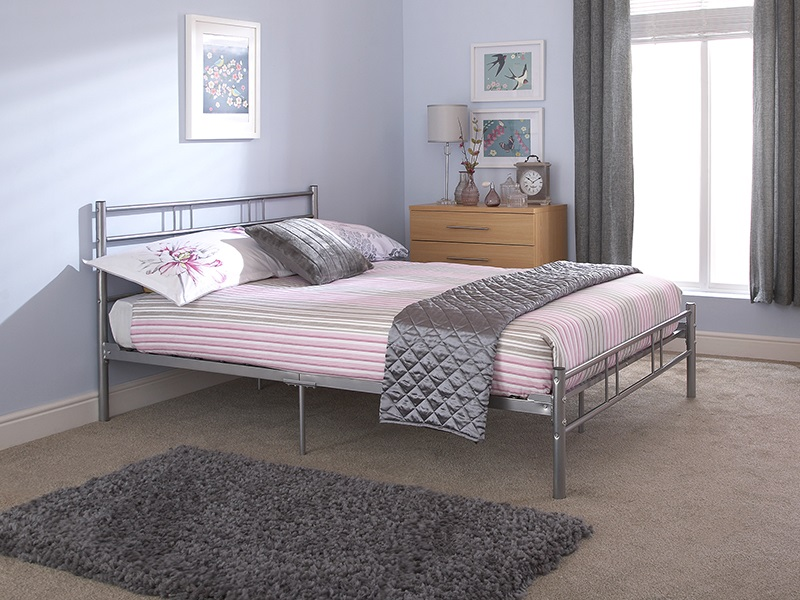 GFW Morgan 3\' Single Silver Metal Metal Bed Image0 Image