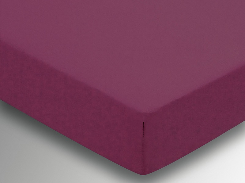 Plain Dye Fitted Sheet - Mulberry Main Image