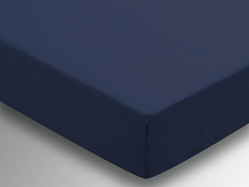Plain Dye Fitted Sheet - Navy Main Image