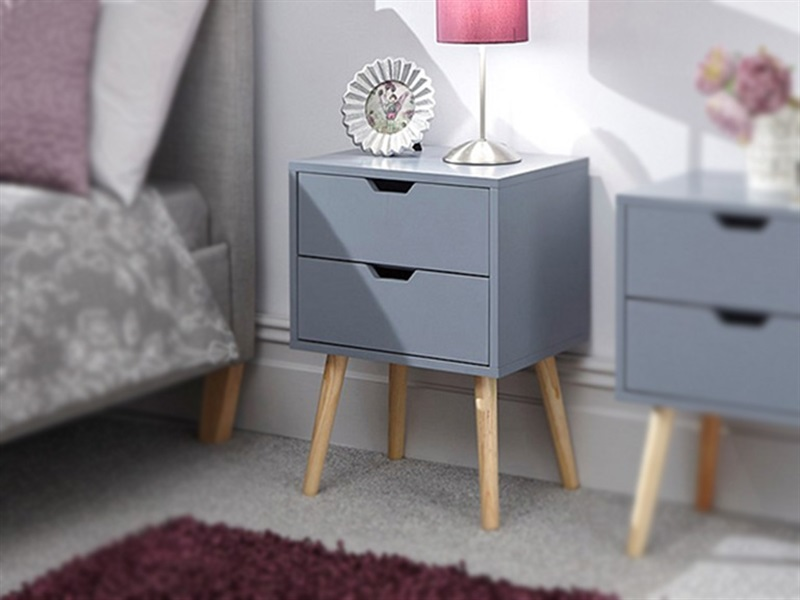 GFW Nyborg 2 Drawer Bedside Yellow Bedside Chest Image0 Image