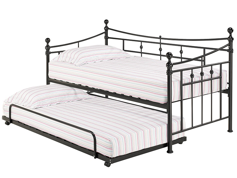 Furniture Express Olivia Trundle Black 3\' Single Stowaway Bed Image0 Image