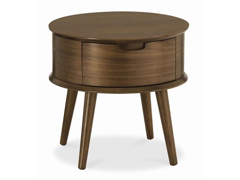 Orbit Walnut 1 Drawer Nightstand Main Image