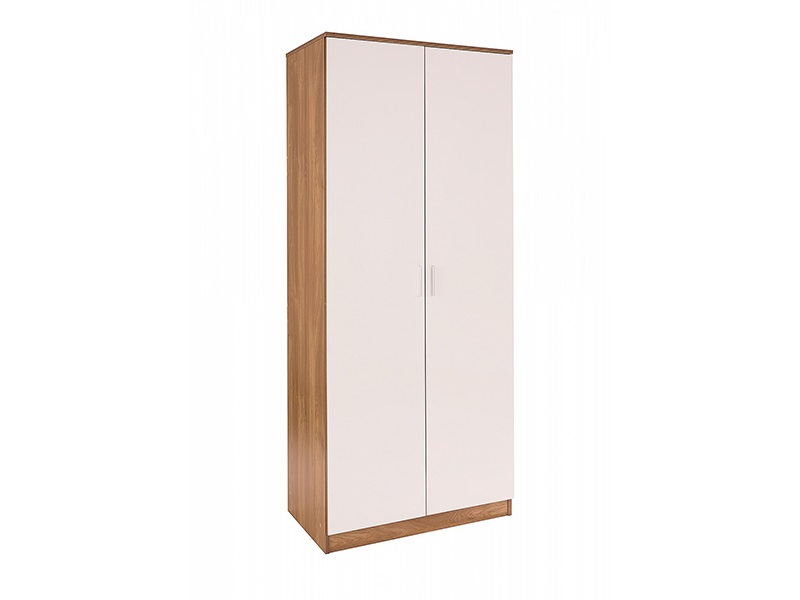 Ottawa - White Gloss - Wardrobe (2 Door) Main Image