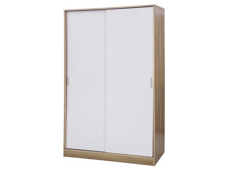 Ottawa White Wardrobe with Sliding Doors Main Image