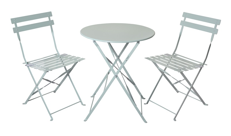Royalcraft Padstow 2 Seater Folding Bistro Set - Sage Green Padstow Sage Green Bar Set Image0 Image