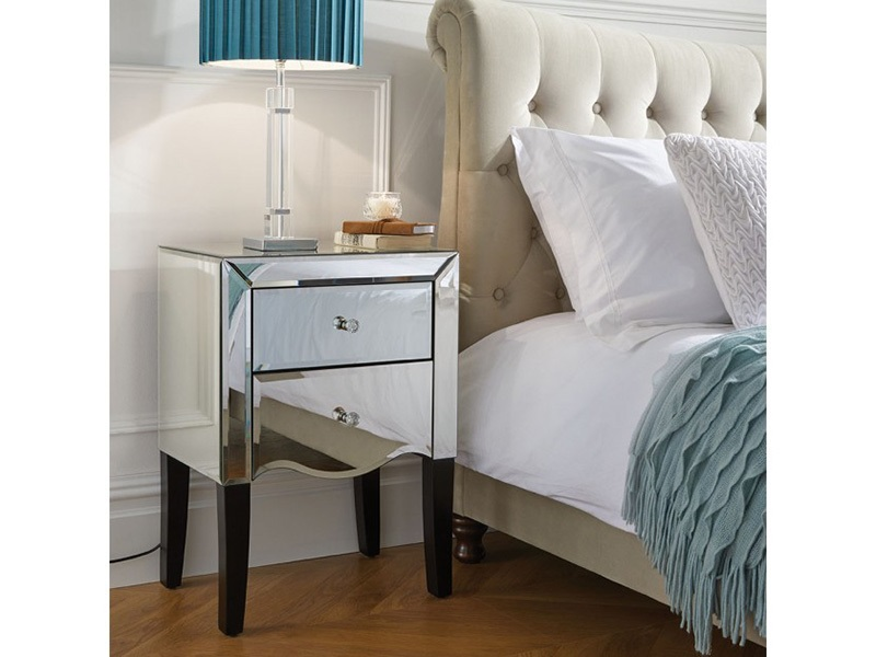 Palermo 2 Drawer Mirrored Bedside Main Image