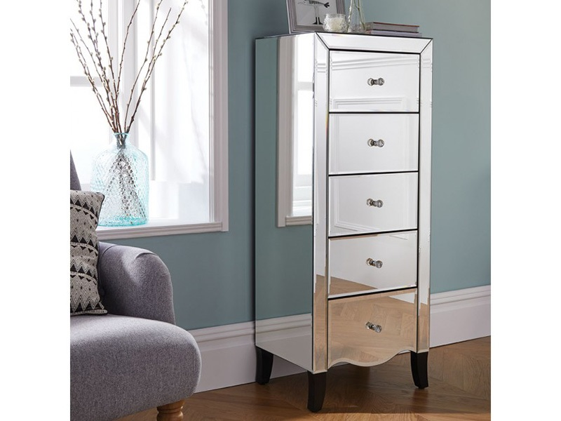 Palermo 5 Drawer Narrow Chest Main Image