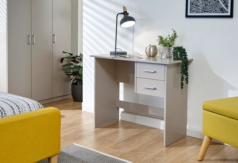 GFW Panama 2 Drawer Desk Grey Paint Grey Desk Image0 Image