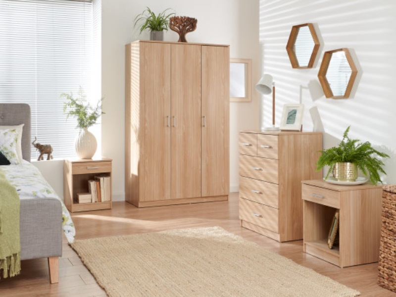 GFW Panama 4 Piece Set Oak Bedroom Set Image0 Image