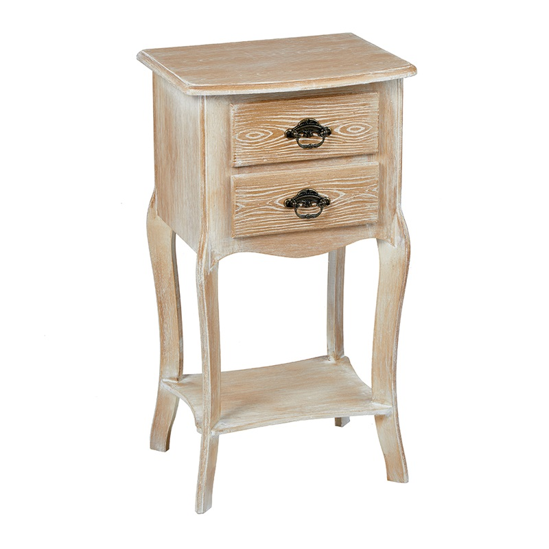 LPD Furniture Provence 2 Drawer Bedside Table Weathered Oak Oak Bedside Chest Image0 Image
