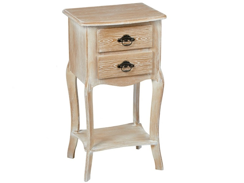 Provence 2 Drawer Bedside Table Weathered Oak Image0 Image