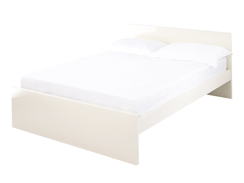 LPD Furniture Puro Cream 4\' 6 Double Wooden Bed Image0 Image