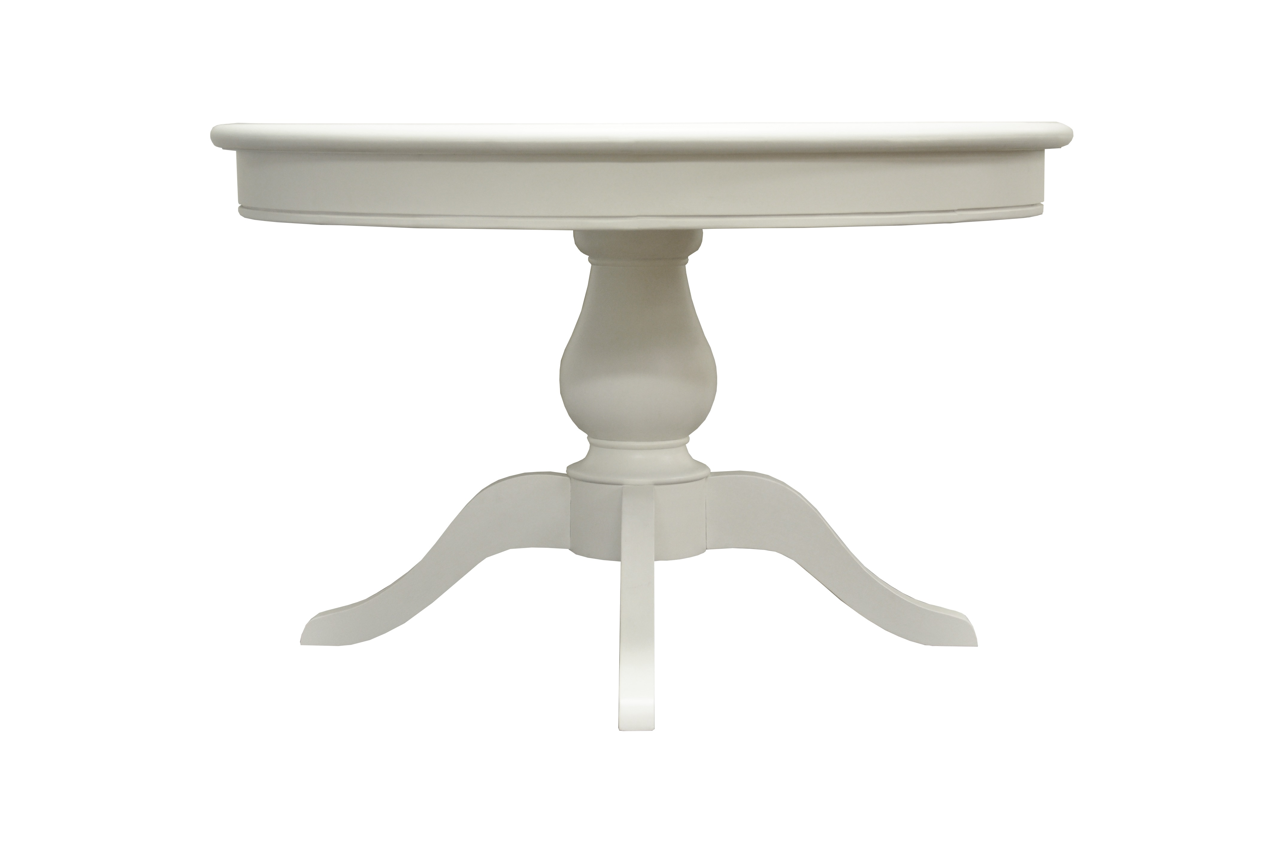 Furniture Express Rhodes Round Table 2\' 6 Small Single White Dining Table Image0 Image