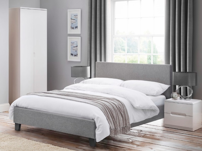 Julian Bowen Rialto Lift-Up Storage Bed 4\' 6 Double Light Grey Ottoman Bed Image0 Image