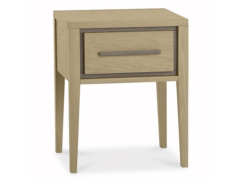 Rimini Aged Oak and Weathered Oak 1 Drawer Nightstand Image0 Image