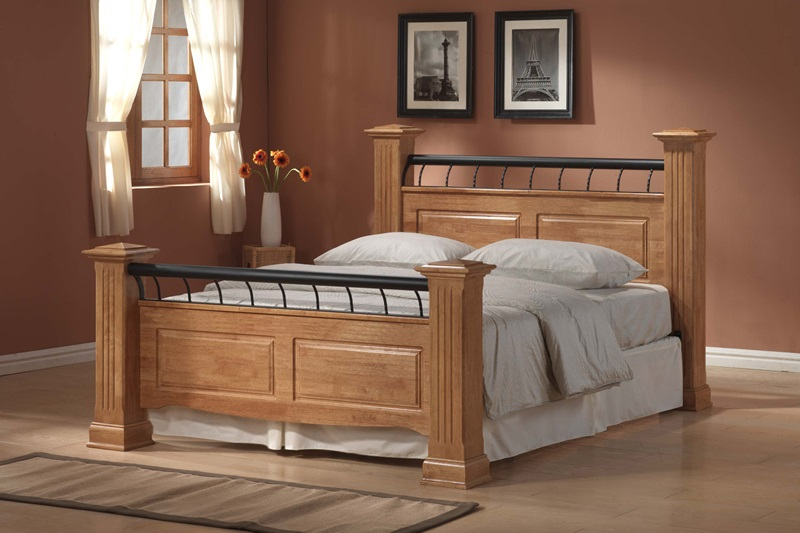 Ideal Furniture Rolo 4\' 6 Double Wooden Bed Image0 Image