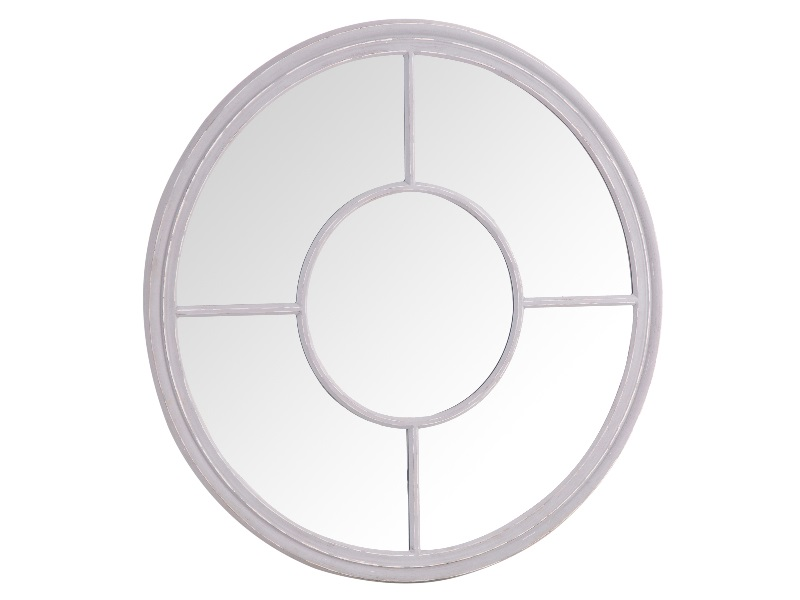 Furniture Express Round Window Mirror Grey Mirror Image0 Image